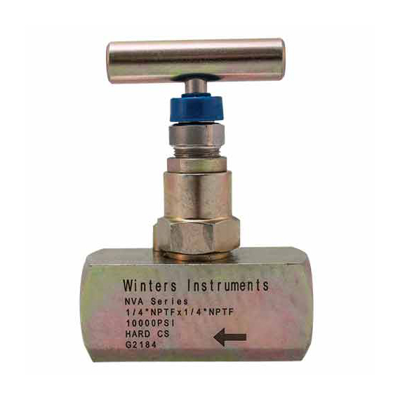 Winters NVA Needle Valve/Straight Body, Hard Seat