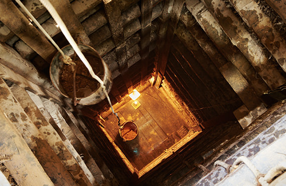Mining hoists transport personnel and ore to and from 1,000 meters below the surface.
